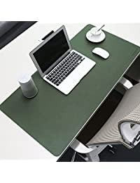 BUBM 必优美 新款游戏键盘鼠标垫桌面垫防水防油超大加厚电脑办公家用PU皮革桌垫