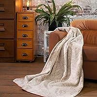 Biederlack 可爱棉和 dralon I 盖毯 150x200 厘米 我德国制造 I Oeko-Tex 标准 100 奶油色