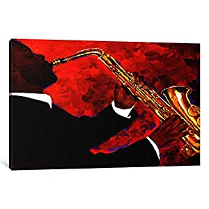 iCanvasART 9882-1PC3-40x26 Man on Fire Canvas Print by Keith Mallett, 0.75 by 40 by 26-Inch