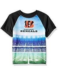 Gerber 童装 NFL 辛辛那提猛虎队男孩 2018 短袖体育场 T 恤,黑色,3T