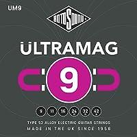 RotoSound 6 Ultramag UM9 合金电吉他弦,双手适用