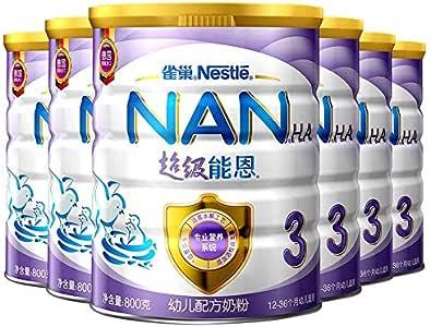雀巢 Nestle 能恩3段 12-36个月幼儿配方奶粉 800g 罐装*6听(整箱装)(德国原装进口,新老包装随机发货)