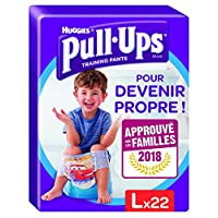 Huggies Pullups 好奇男孩训练裤尿布,尺寸 6 /大号(16-23公斤),用于如厕训练时的夜间尿布,迪士尼赛车总动员图案,44件 裤型尿布(2个22件包装尿布)
