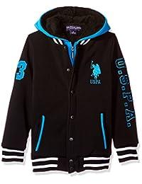 U.S. Polo Assn. 男童夏尔巴内衬羊毛连帽衫