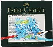 Faber-Castel FC117524 Albrecht Durer 艺术家水彩铅笔锡(24 支装),多种颜色