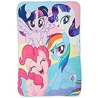 "Hasbro My Little Pony""彩虹黑""小型拉舍尔毯,均码,多种颜色"