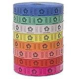 华夫格票 - (4 卷 2000 张票)8,000 张全星蜡利票(4 种颜色可选)