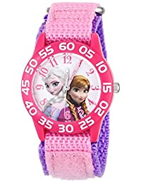 Disney girls 塑料儿童W001790  analog 尼龙 粉色 W001790 watches