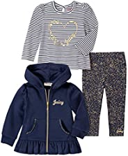 Juicy Couture 橘滋 女童 3 件套 夹克裤子套装