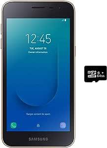 "Samsung Galaxy J2 Core 2018 (16GB) 5.0"",Android 8.0,GSM 工厂未锁,美国+全球 4G LTE - 国际版 J260M/DS 16GB + 64GB SD Bundle 金色"
