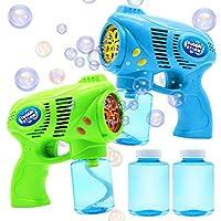 JOYIN 2 个泡泡枪,带 2 瓶泡泡补充液(共 10 盎司),儿童用泡泡泡泡泡泡泡泡泡泡泡泡泡机派对礼品,夏季玩具,户外活动,生日礼物