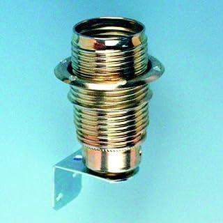 E14 灯插座黄铜带金属支架