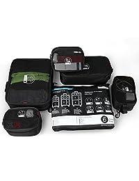 Rockland 中性 旅行收纳袋套装 行李箱整理收纳六件套 U02 黑色 均码