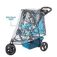 PETIQUE RC02000000 PVC 宠物慢跑车防雨罩,透明,均码