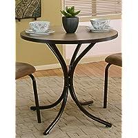 Sunset Trading Linen 餐桌,棕色带米色顶面