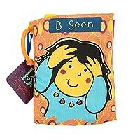 B.Toys 比乐 躲猫猫布书 多彩触感手抓 可撕咬 布艺玩具 智力开发 阅读益智 婴幼儿童益智玩具 礼物 6个月+ BX1171Z