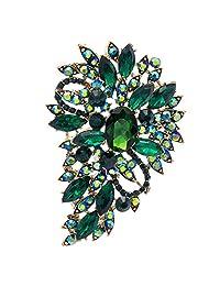 绿水钻胸针 女式首饰 胸针 花卉 婚礼花束 生日礼物 4080