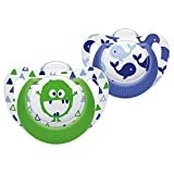NUK Genius Silicone Soother 2PK 6-18m Whale/Monster