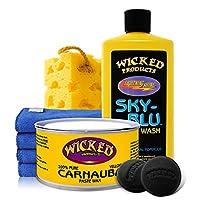 wicked 妖兽 洗车打蜡套装 浓缩洗车液 巴西棕榈蜡 汽车清洁保养美容套装 新车护理套餐