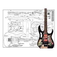 Plan of Ibanez JEM 电吉他 - 全比例印刷