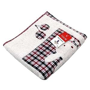金号RA365WH无捻提缎绣毛巾两条装
