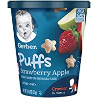 Gerber 嘉寶 草莓蘋果泡芙零食杯,0.70盎司(20g),8盒裝