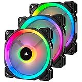 Corsair LL系列 LL120 RGB 120mm双光环RGB LED PWM风扇 3个装 带照明Node Pro风扇