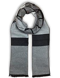 Bleu Nero 奢华冬季围巾 优质羊绒触感独特设计