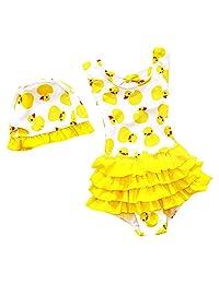 幼童女孩泳衣儿童女孩连体泳衣可爱泳装