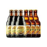 卡斯特 比利时进口精酿啤酒组合 330ml*6瓶 口味可选 (3瓶黑啤+3瓶三料)