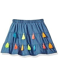 Mud Pie 女童条纹流苏分层裙 蓝色 LG/ 4T-5T