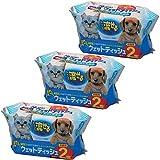 爱丽思欧雅玛 宠物用流动湿巾 70片装 - (70枚入×2P)×3
