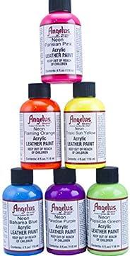 Angelus 4oz Neon Paint 6pk