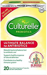 Culturelle Ultimate Balance Probiotic for Antibiotics | Use with Antibiotics | Once per Day | Contains 100% La