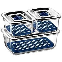WMF 福腾宝 Top Serve系列密闭存储与上菜系统套装 3件装 配滴水托盘 654249999