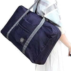 防水可折叠旅行包 购物单肩包男女加大整理袋行李包大容量登机包防水套拉杆箱收纳袋 混色发 (4个装)