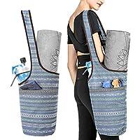 SPOTBRACE 瑜伽垫袋,瑜伽手提袋,带大尺寸口袋和拉链口袋,瑜伽手提袋,适合大多数尺寸瑜伽,多功能用途女士背带