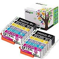 Kingjet 替換件 適用于佳能 PGI-280XXL CLI-281XXL 墨盒 6 色 2 套 (2PGBK 2BK 2C 2M 2Y 2PB),適用于佳能 Pixma TS9120、TS8220、TS8120 打印機