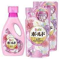 【量販裝】Bold 液體 含有柔軟劑 洗衣液 香薰花 & 肥皂 主體 850g+替換裝 715g×2包