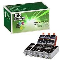 Limeink 8 Pack Compatible PGI-35 & CLI-36 Ink Cartridges (5 Black, 3 Color) Color Set Use for PIXMA iP100 PIXMA iP110 Series Printers 1509b002 1511B002