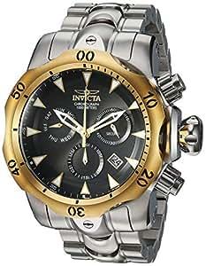 Invicta 男式 Venom 石英手表不锈钢表带,银色,26(型号:29645)