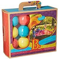 Battat BX1590 B。 Toys Woo HUE 降落伞,带 15 个球和 8 英尺降落伞,彩虹色