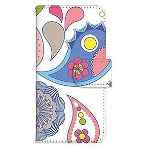 智能手机壳 手册式 对应全部机型 印刷手册 wn-589top 套 手册 花朵图案 UV印刷 壳WN-PR061445-MX AQUOS Xx2 502SH B款