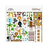 "Doodlebug Essentials Page Kit 12""X12""-At The Zoo"
