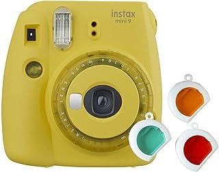 instax 16607123 Mini 9 Camera 有線接口/性別適配器16632960 僅攝像機 透明黃色