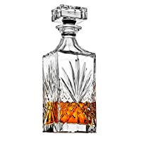 威士奇 Decanter for Scotch、Liquor、Vodka、Wine 或 Bourbon - Irish Cut 750ml