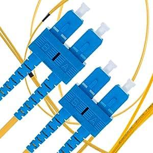 单模光纤接插线 - 双工 - UPC/UPC - 9/125um OS1 多包装 / - Beyondtech PureOptics 电缆系列LYSB00IXP4HG2-ELECTRNCS SC to SC 3m (9ft)