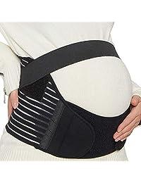NEOtech Care 乐欧德 NTC-T007孕妇产前托腹带孕妇带骨盆矫正带盆骨带-Maternity Belt,Pregnancy Support,Waist/Back/Abdomen Band 美亚同款 透气三件式 黑色 中码