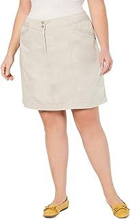 Karen Scott 女式加棉混纺过膝裙
