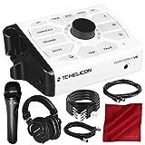 Tc-Helicon Perform-VK Vocal 处理器适用于带塔斯卡姆 TH-MX2 混合耳机、Xpix Studio 手持麦克风和各种电缆豪华套装